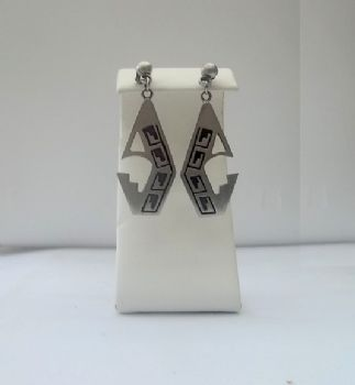 Hopi Style Earrings with Cut out